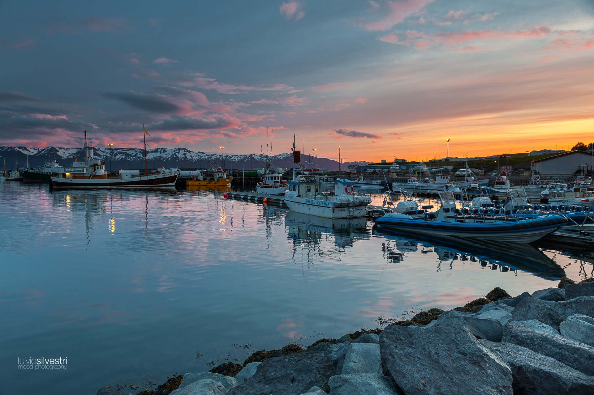 Husavik at sunset 2
