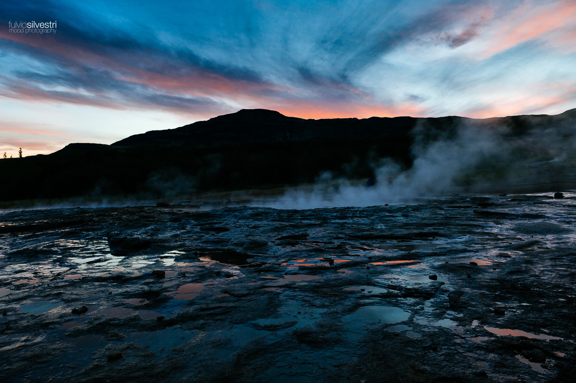 Sunset at Geysir