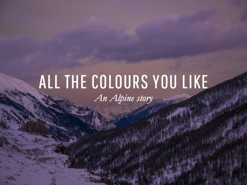 All the colours you like